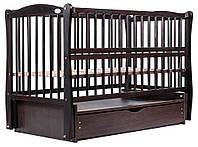 622017 Кровать Babyroom Еліт маятник, ящик, откидной бок DEMYO-5  бук венге