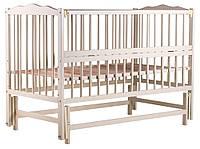 622003 Кровать Babyroom Веселка маятник, откидной бок DVMO-2  бук слоновая кость