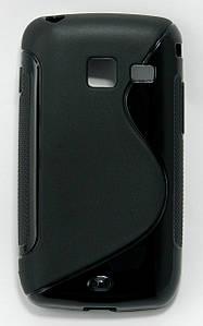 Чехол TPU S формы на Samsung Galaxy Y Duos S6102, черный