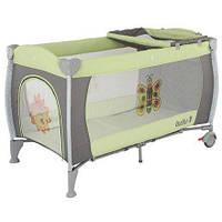620386 Манеж-кровать Quatro Lulu 1 с пеленатором  салатовый - графит