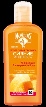 Вода для лица Тонизирующая очищающая Сияние абрикоса Le Petit Marseillais 200 мл