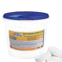 Медленный хлор Crystal Pool (Slow Chlorine Tablets Large) 5кг 2205