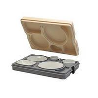 Термоподнос с замком и набором посуды (5 предметов) Resital (Termobox)