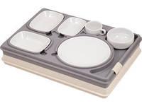 Термоподнос с замком и набором посуды (6 предметов) Prestige (Termobox)