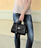 """Классическая женская сумка """"Black bag"""" из натуральной кожи, фото 1"""