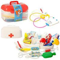 Набор доктора детский.  Доктор M 0460, 34 предмета, свет, в чемодане