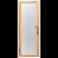 Дверь для бани-бочки под ключ и сауны Tesli UNO Silvit  1900 х 700