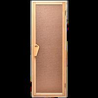 Дверь для бани-бочки под ключ и сауны Tesli UNO Delta 1900 х 700