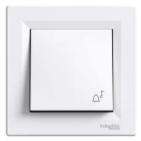 Кнопка «Звонок»  самозажимные контакты  ASFORA Schneider Electric Белый