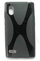 Чехол силиконовый X формы на LG Optimus L9 P765, P768, P760