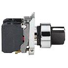 Головка для переключателя 22 мм 2 позиции черная, фото 2