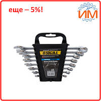 Ключи рожково-накидные Sigma 8шт 6-19мм CrV head polished (6010191)