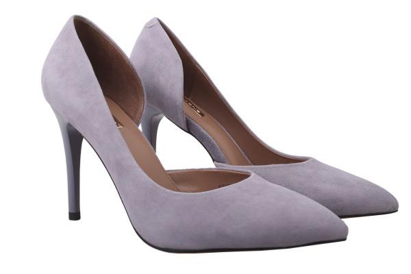 Туфли женские на шпильке из натуральной замшы, фиолетовые, Anemone