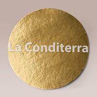 Подложка для торта круглая, золотая, d=18см, фото 1