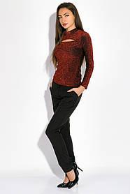 Гольф женский с люрексом 19PL161-1 (Красный)