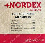 Болгарка Nordex AG 850/125 (125 круг), фото 6