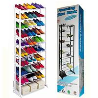 Полка для обуви amazing shoe rack металлическая 30 пар