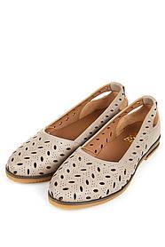 Туфли женские 106P016 (Темно-бежевый)