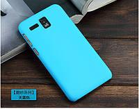 Чехол накладка бампер для Lenovo IdeaPhone A8 Golden Warrior бирюзовый