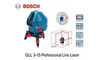 Лазерный уровень нивелир Bosch GLL 3-15 X, фото 4