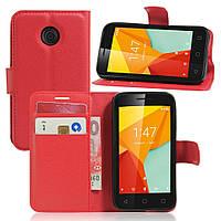 Чехол-книжка Litchie Wallet для Vodafone Smart Mini 7 Красный