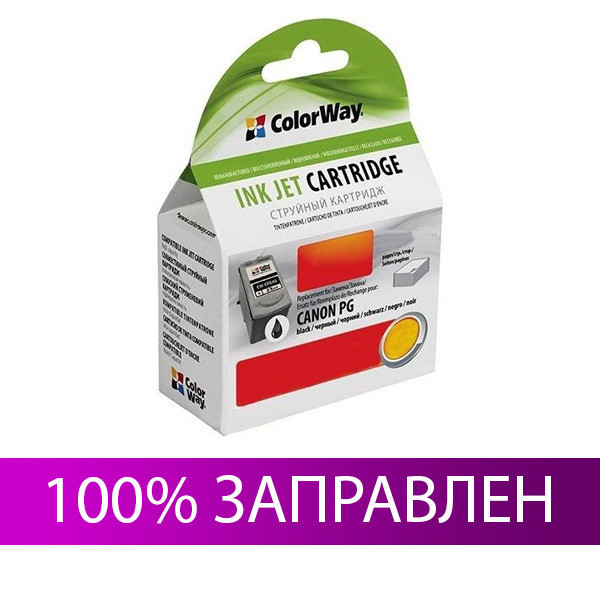 Картридж Canon PG-50, Black, iP 2200, MP 150/160/170/180/450/460, MX 300/310, 22 мл, ColorWay (CW-CPG50)