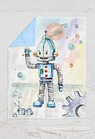 Панелька Премиум  сатин Робот 100*75