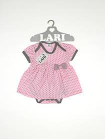 """Боди платье """"Горошинка"""", розовый"""
