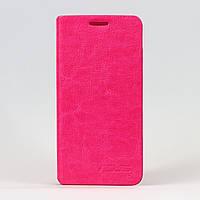 Чехол книжка на Asus Zenfone 5 A500CG / A501CG Черный кожаный Розовый