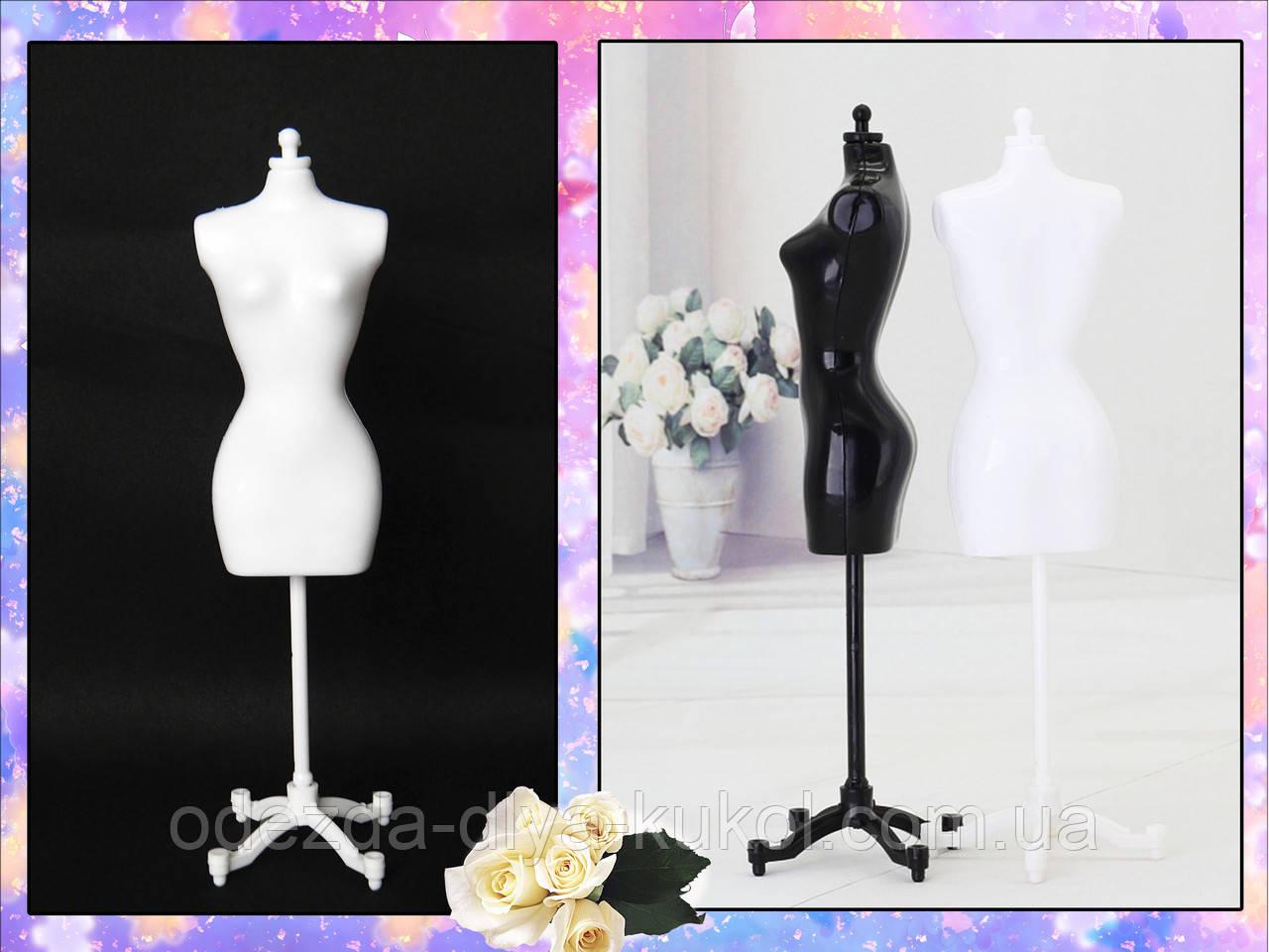 Манекен для кукольной одежды (белый)