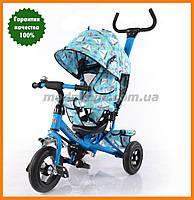 Трехколесный велосипед с ручкой с надувными колесами | TILLY Trike