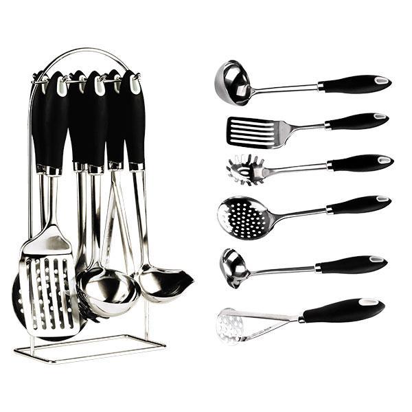 Кухонный набор Maestro MR 1544 7 предметов черный