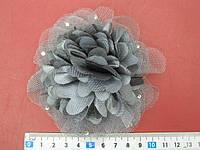 Цветок текстильный на одежду
