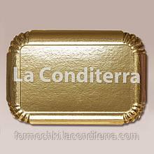 Подносы золотые, прямоугольные Siluett 19x28 см