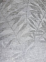 Обои виниловые на флизелиновой основе  GranDeco A32601 Astrid листья серебристые металик