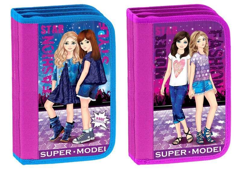 Пенал шкільний KIDIS для дівчинки 3 відділення картонний SUPER MODEL 7464*