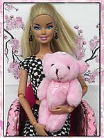 Мини плюшевый мишка - 8,5 см (розовый), фото 1