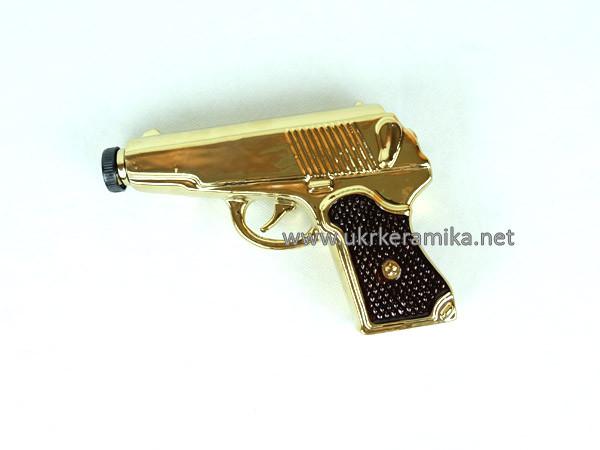 Золотой пистолет Макарова - набор для спиртного, бутылка с рюмками