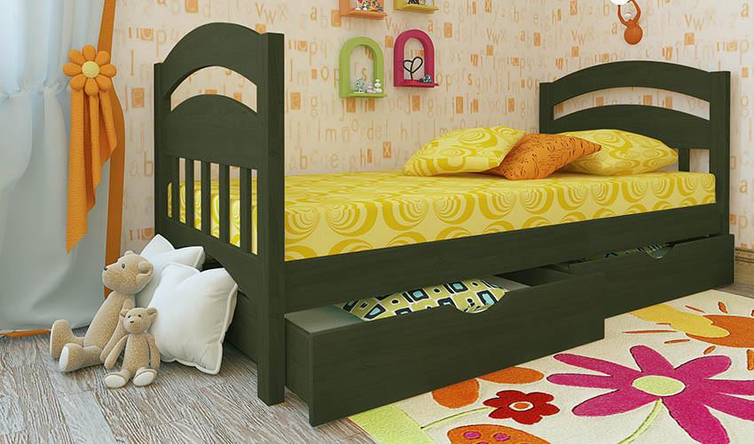 Детская деревянная кровать (из ольхи) Селеста Мини (все размеры)