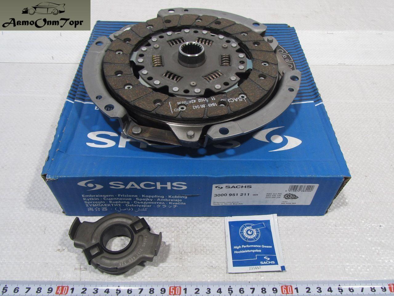Набір зчеплення ВАЗ 2108, 2109, 21099, диск, корзина зчеплення, вижимний підшипник Sachs 3000-951-211
