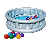 Детский надувной бассейн Bestway 51080-1 «Космический корабль», 152 х 43 см, с шариками 10 шт