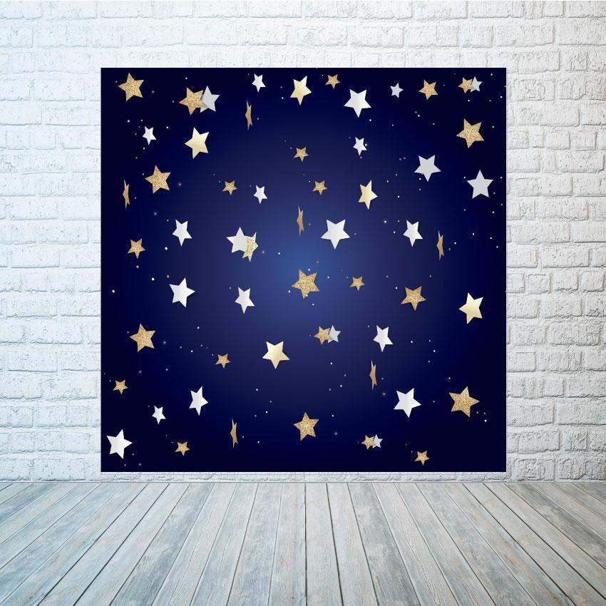 Баннер фон синий со звездами