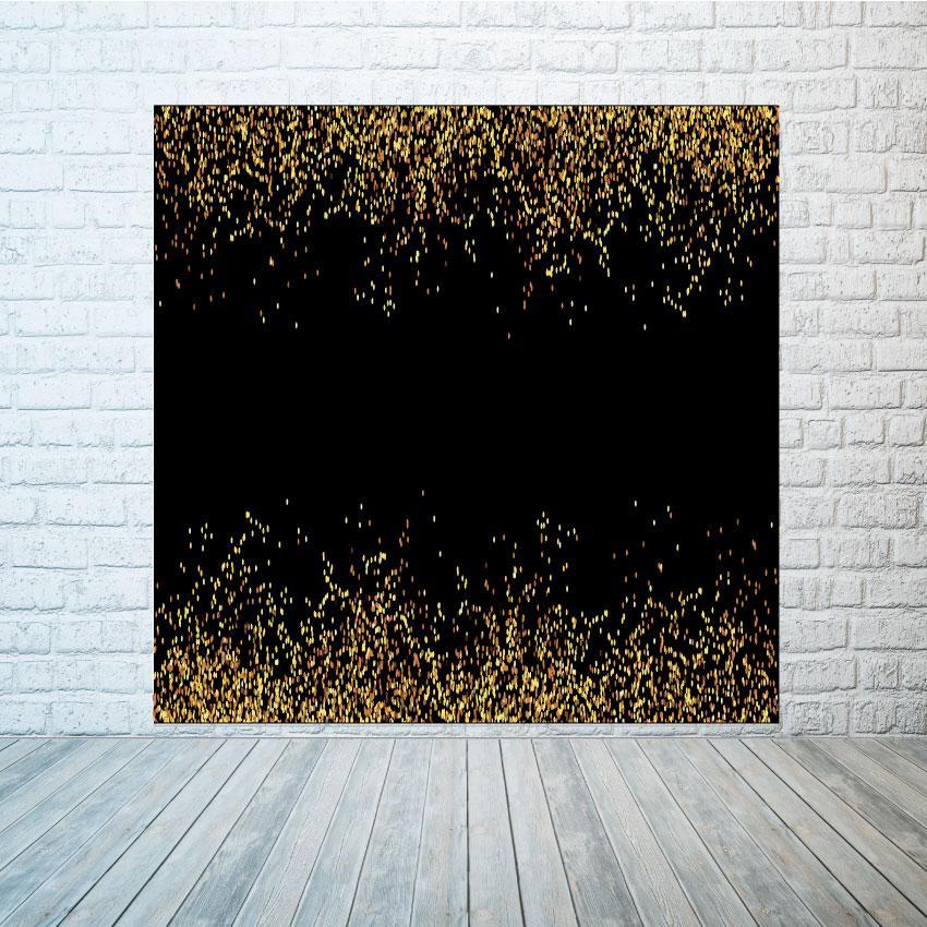 Баннер фон черный с блестками