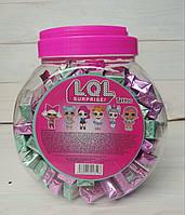 Lol Surprise tatto Bubble Gum жевательные конфеты со вкусом клубники и арбуза (банка) Турция 100 шт