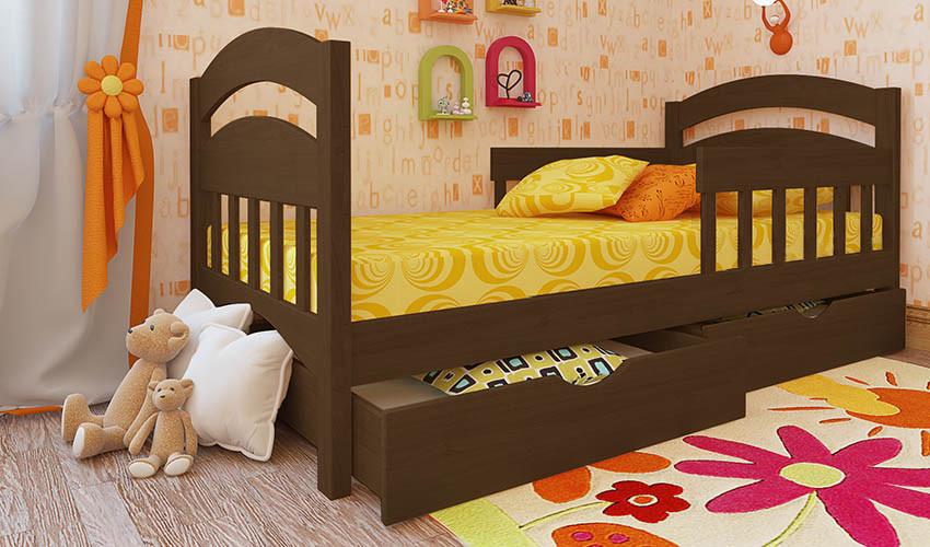 Детская деревянная кровать (из ольхи) Селеста Люкс (все размеры)