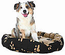 Ліжко Sammy Trixie чорно-бежевий діаметр 70 см, фото 3