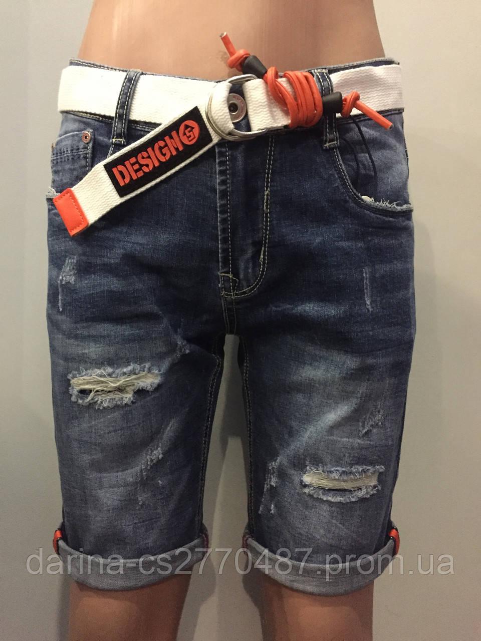 Джинсовые шорты для мальчика 14(158) модные