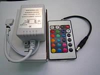 RGB контроллер с ИК пультом (24 кнопки) 12/24V; 2A/канал