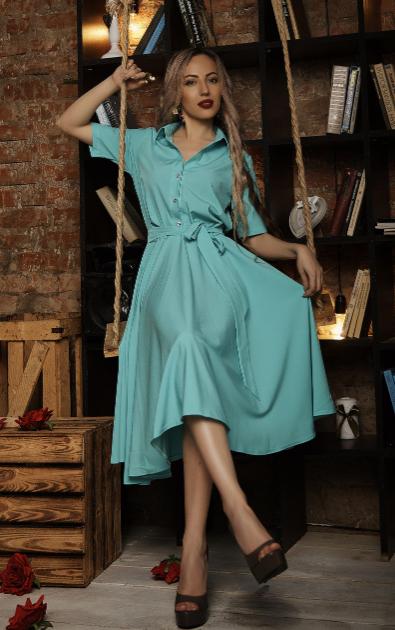 """Шикарное платье  """"Марианна"""" размер 50 мята"""