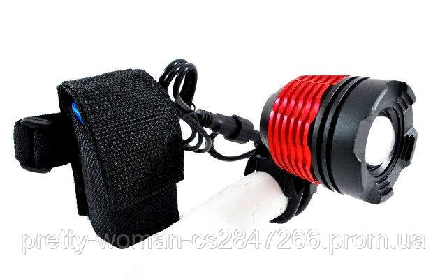 2в1 велосипедный фонарь + налобник K121 T6 cree xml t6